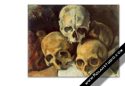 Pyramid of skulls | Paul Cézanne 1901