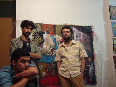 4th Group painting Hanif bahari , Karan Rshad , Kaveh tavakoli