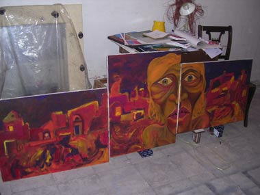 Group painting By Karan reshad and Pooya Jamali
