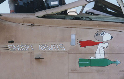 Snoopy AirWAys Nose Art