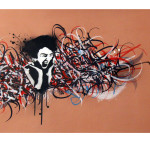 Calligraffiti on canvas