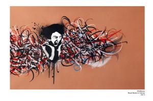 Calligraffiti on canvas